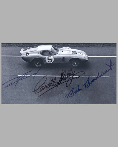 1964 24 Hours of Le Mans autographed photograph of the Ford Cobra Daytona Coupe 2