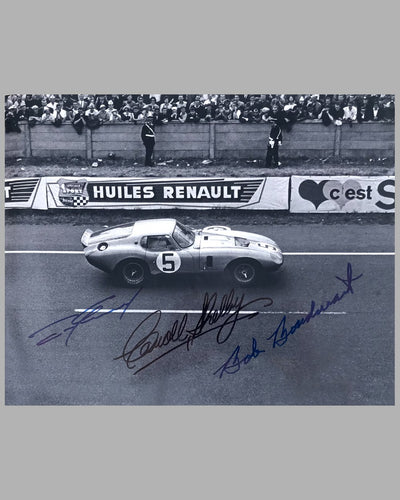 1964 - 24 Hrs of Le Mans autographed photo & Shelby Cobra Daytona model - Lot of 2 - 5