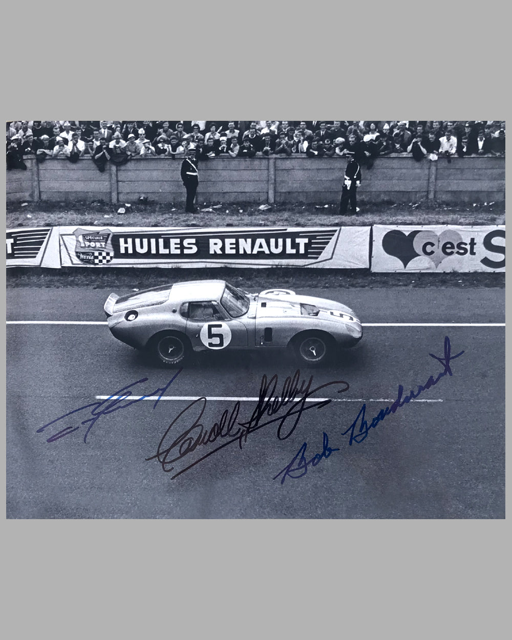 1964 - 24 Hours of Le Mans autographed photograph of the Ford Cobra Daytona Coupe