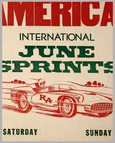 Road America original race poster for the 1964 June Sprint 2