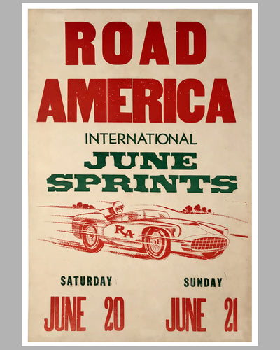 Road America original race poster for the 1964 June Sprint