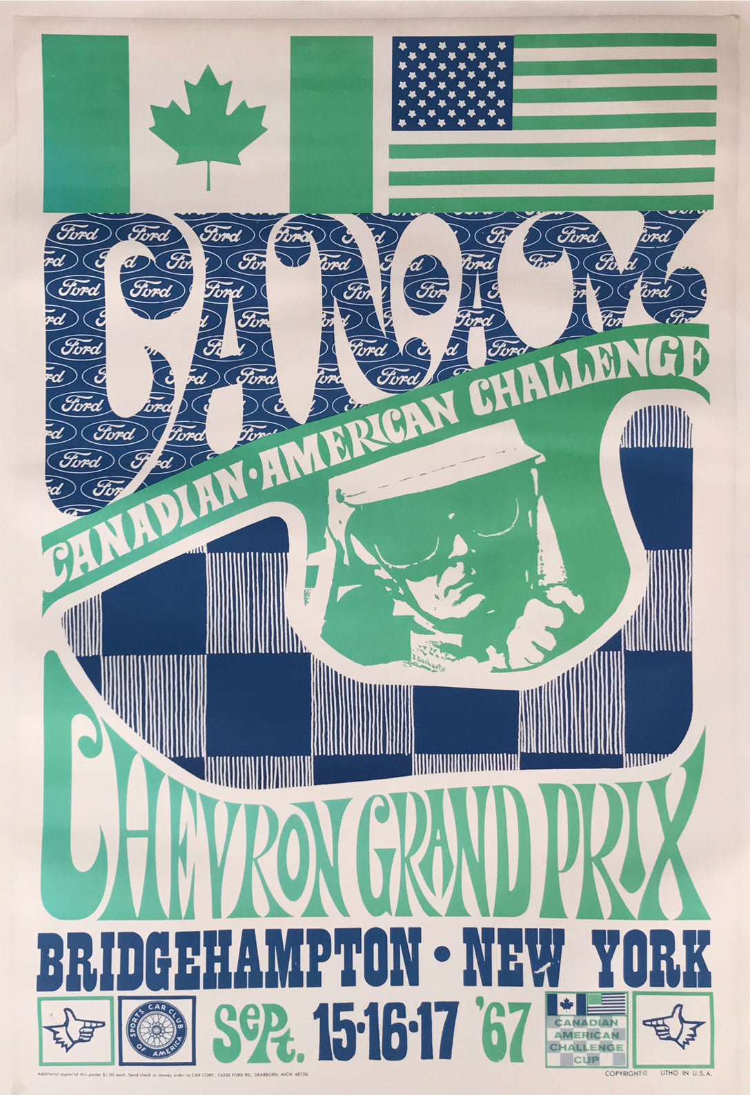 1967 Can-Am race at Bridgehampton psychedelic poster