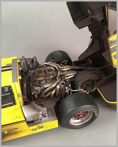 1967 Ford GT40 Mk IV GMP model engine left