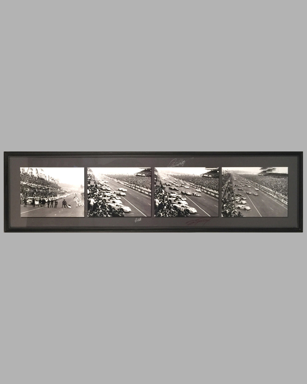 1967 - 24 Hours of Le Mans autographed 4 photo montage of the progression of the start of the race