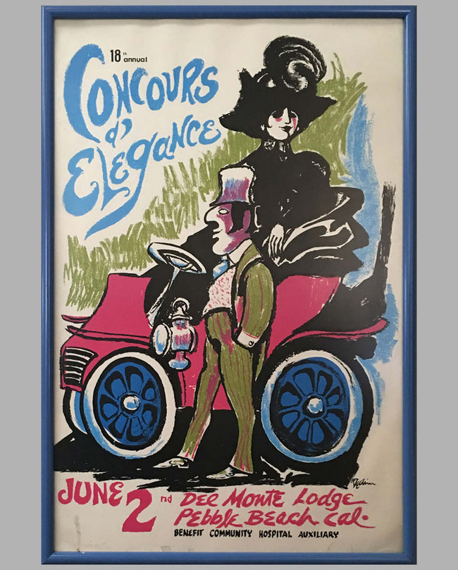 1968 18th Annual Concours d'Elegance Pebble Beach poster by Dedini