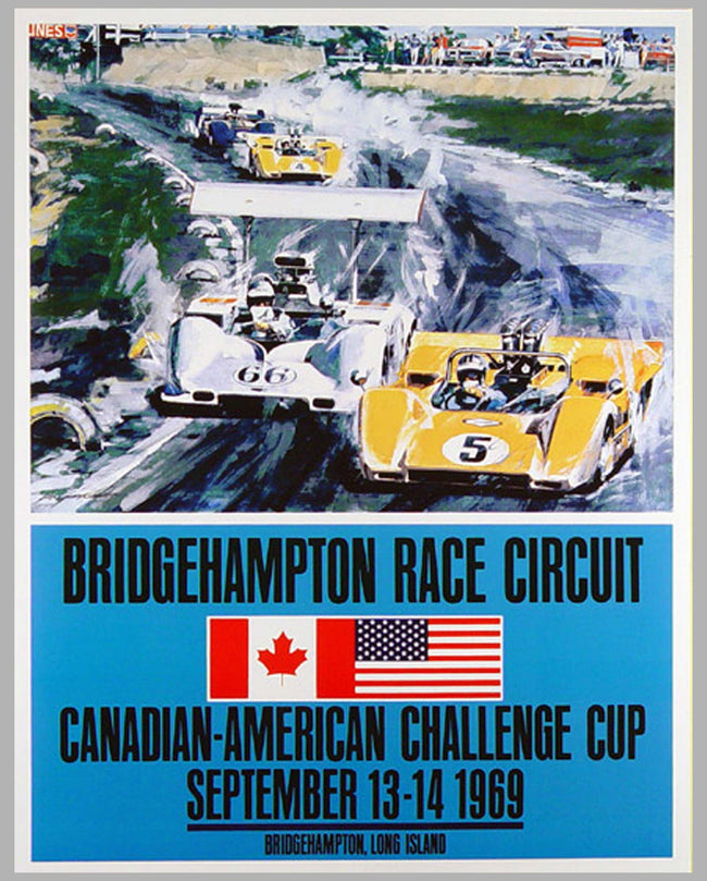 Bridgehampton Can-Am Challenge 1969 poster