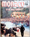 1969 Monaco Grand Prix original event poster by R. Maestri