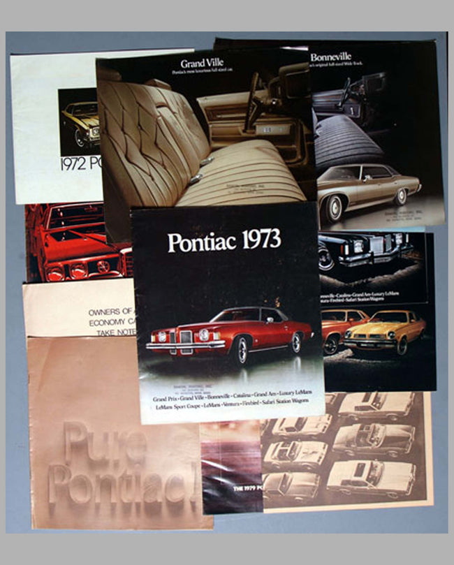 1970-1979 Pontiac factory sales literature collection (16)