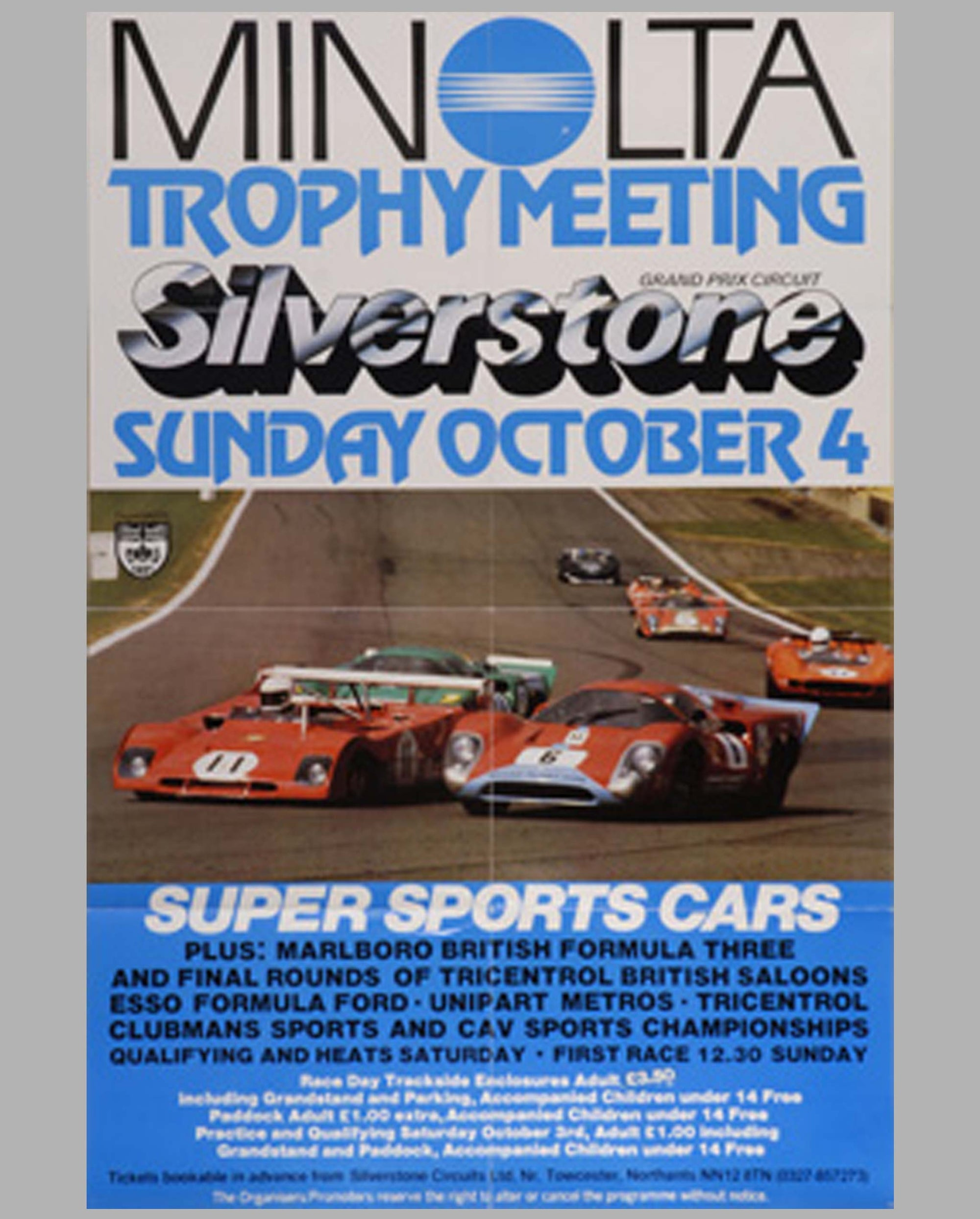 1970 Minolta Trophy Meeting-Silverstone original poster