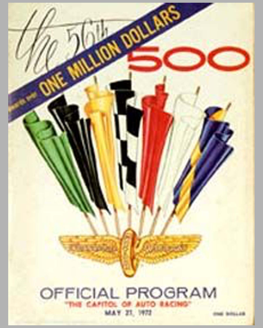 56th Indy 500 1972 official event program