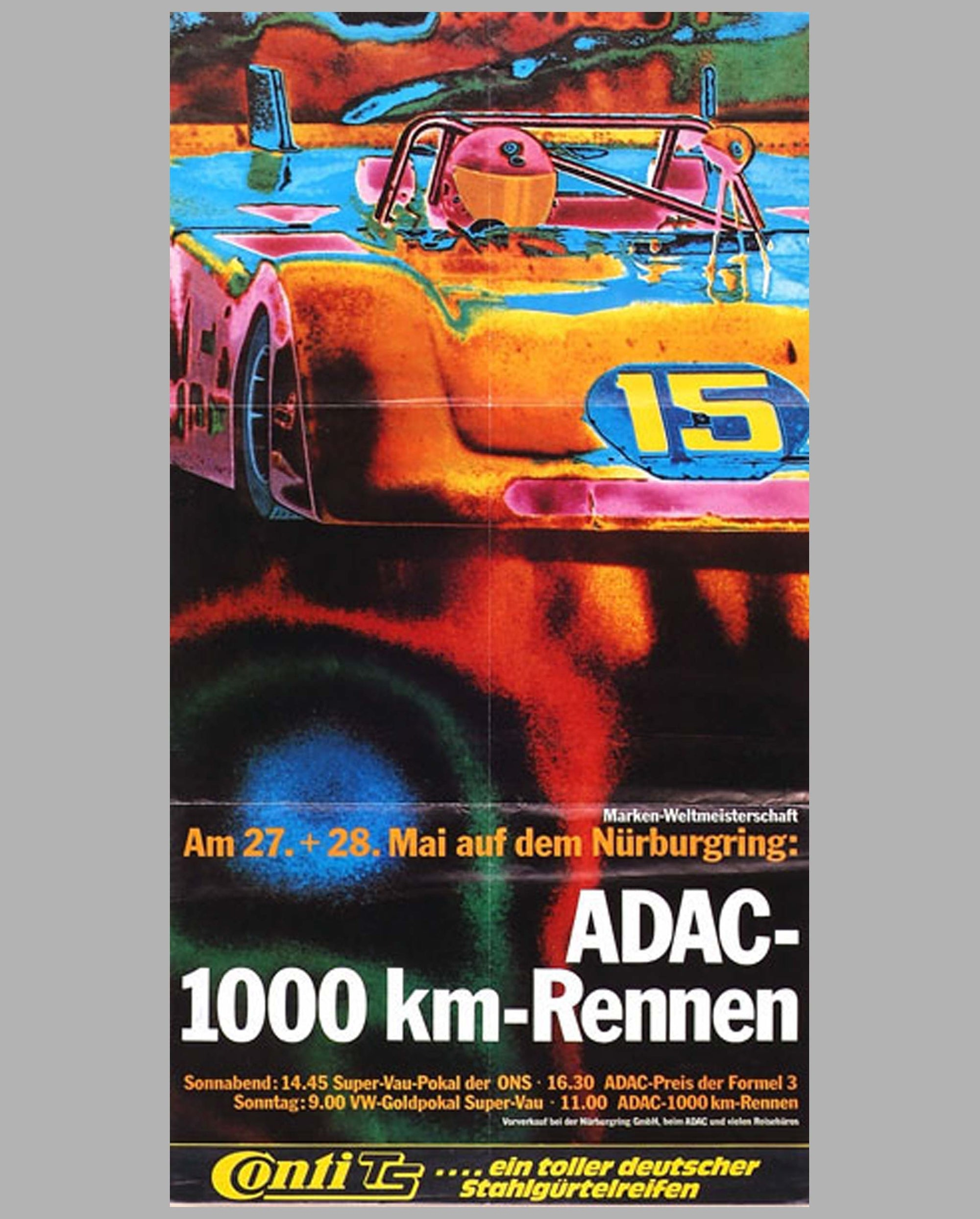 1972 - 1000 Km Race Nurburgring original event poster