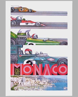 1973 Monaco GP official event poster
