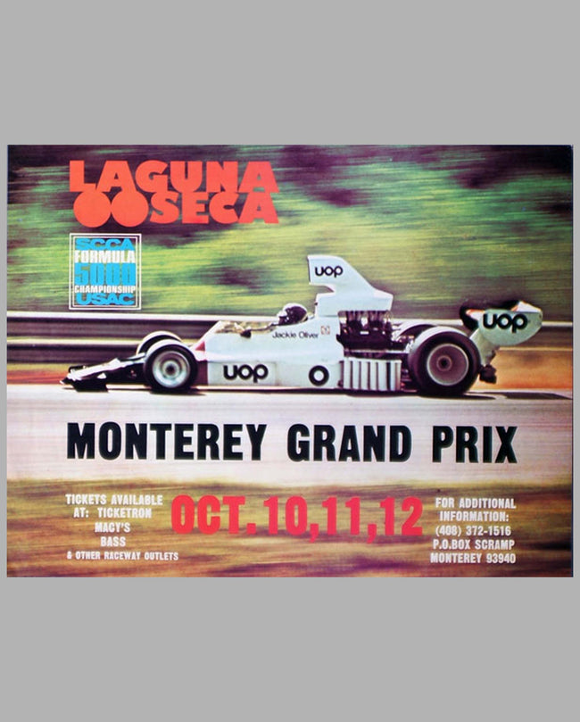 1975 Monterey Grand Prix F. 5000 original event poster