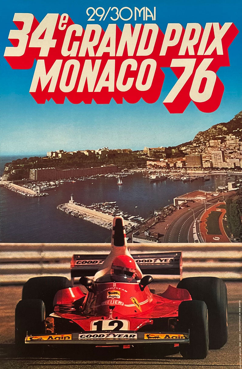 1976 Grand Prix of Monaco original poster