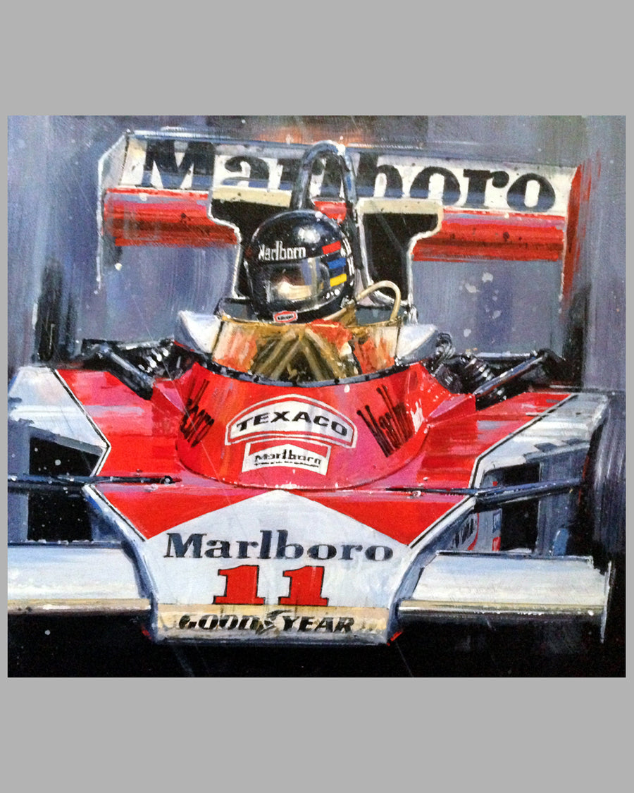 Grand Prix of Japan 1976 acrylic painting by Nicholas Watts