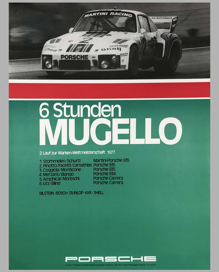 Porsche Factory Poster 6 Hours of Mugello, 1977