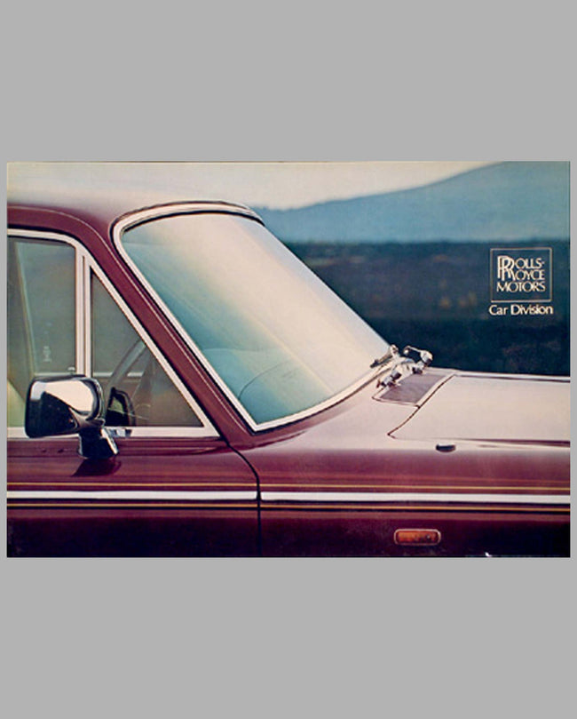 1977 Rolls-Royce Silver Shadow II prestige color catalog