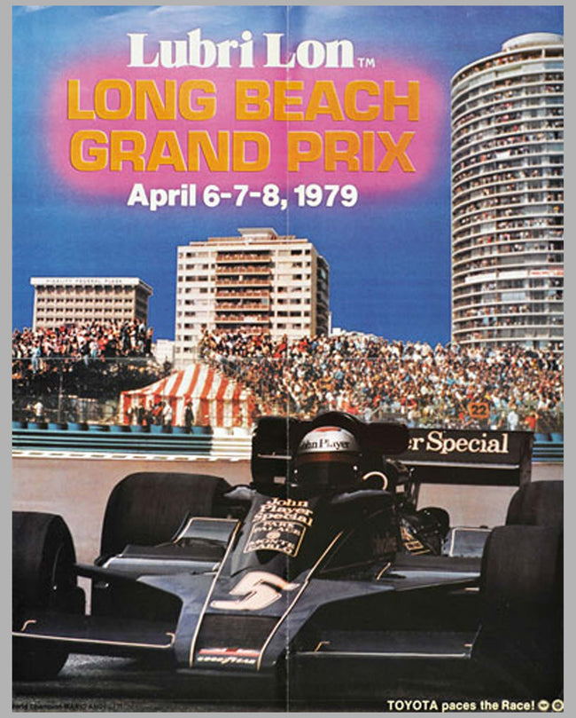 Long Beach Grand Prix original event poster, 1979