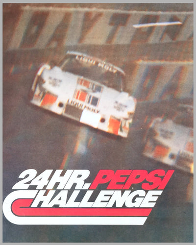 1981 24 Hour Pepsi Challenge at Daytona poster