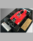 1982 Ferrari 126C2 hand built model by Jeff Alderman - back