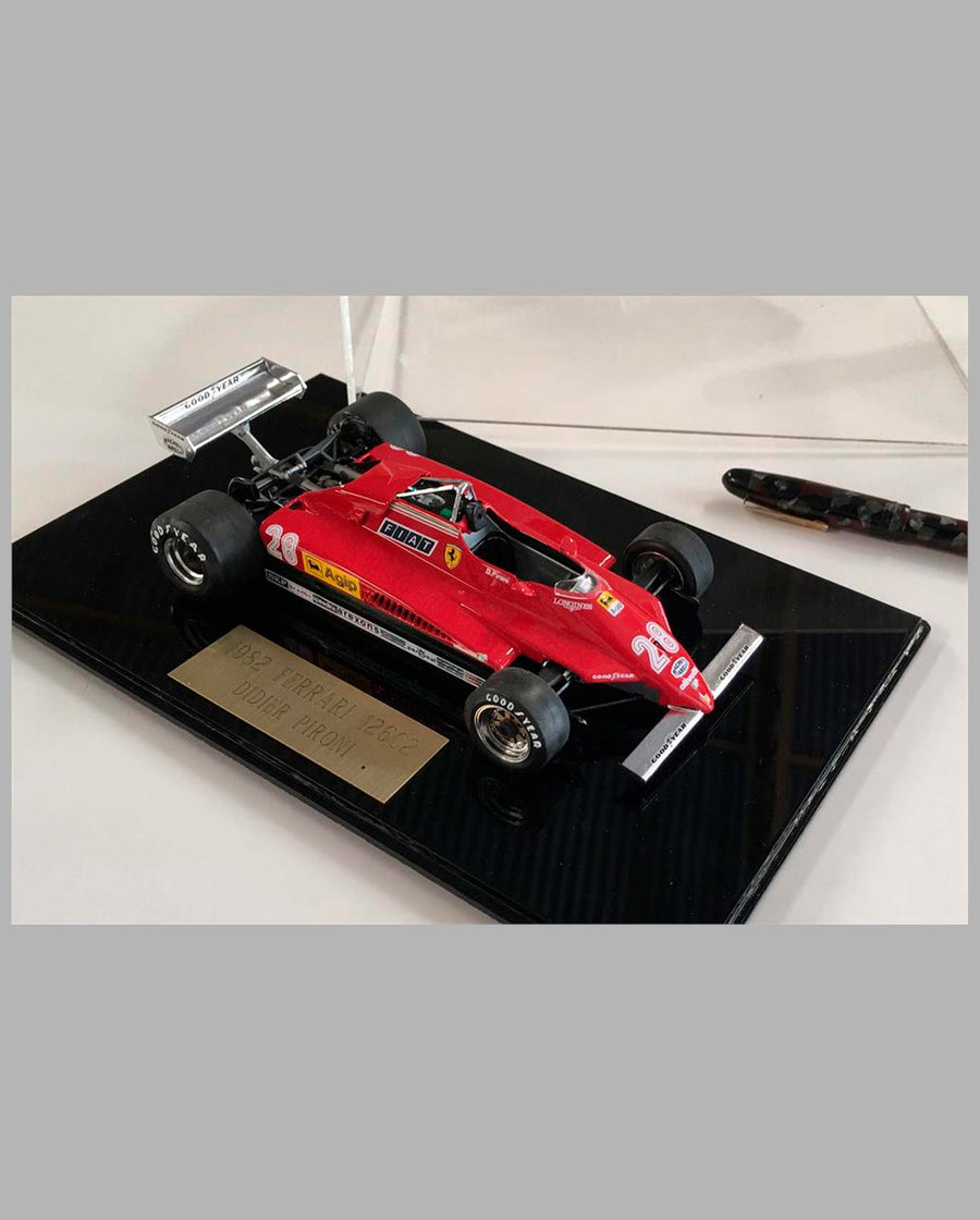 1982 Ferrari 126C2 hand built model by Jeff Alderman - front