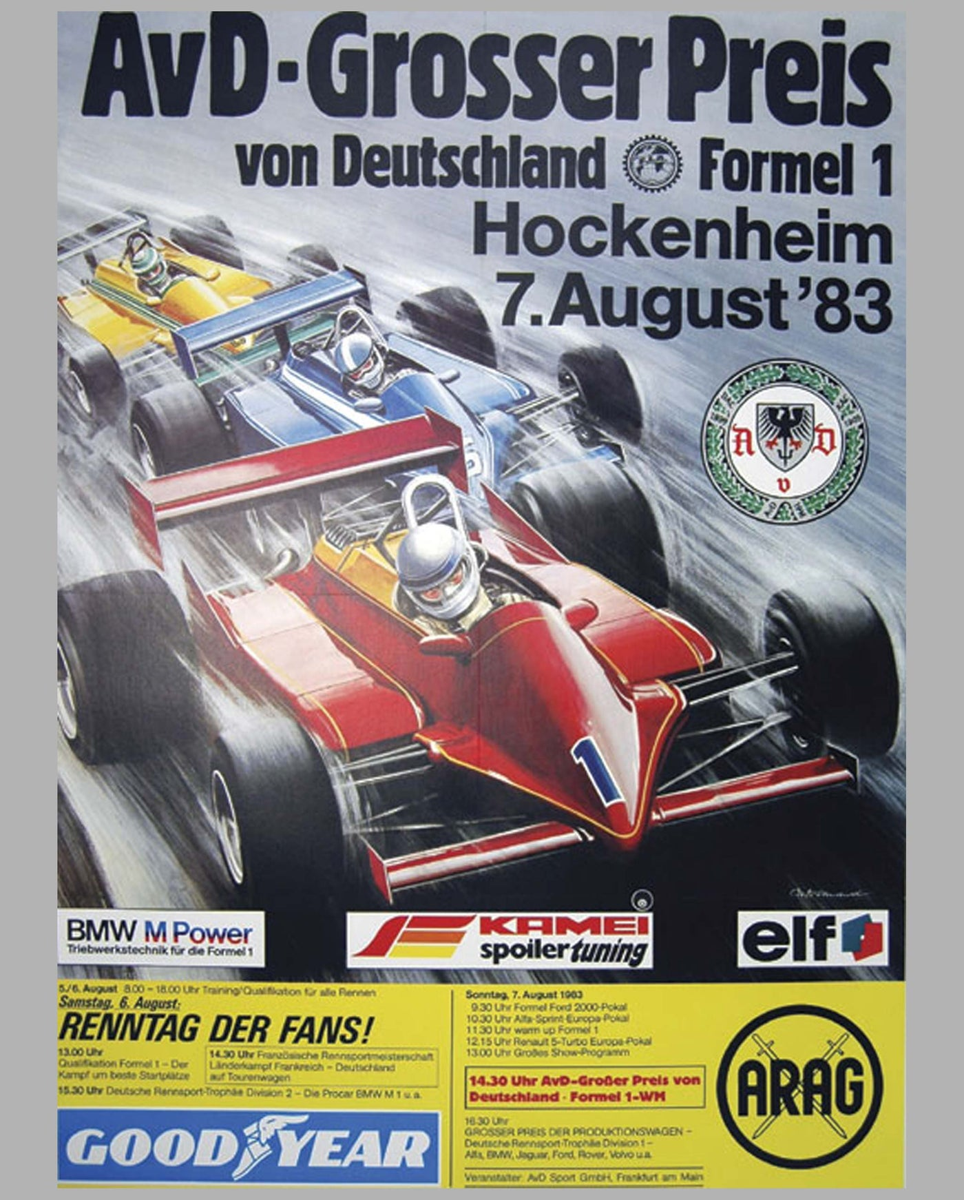 GP of Germany - Hockenheim 1983 poster by Carlo Demand