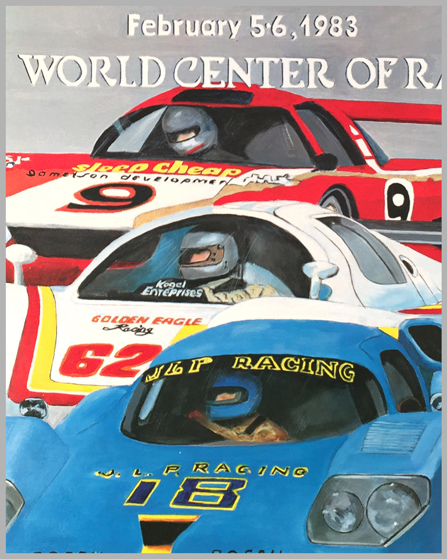 1983 24 Hours of Daytona original poster 2