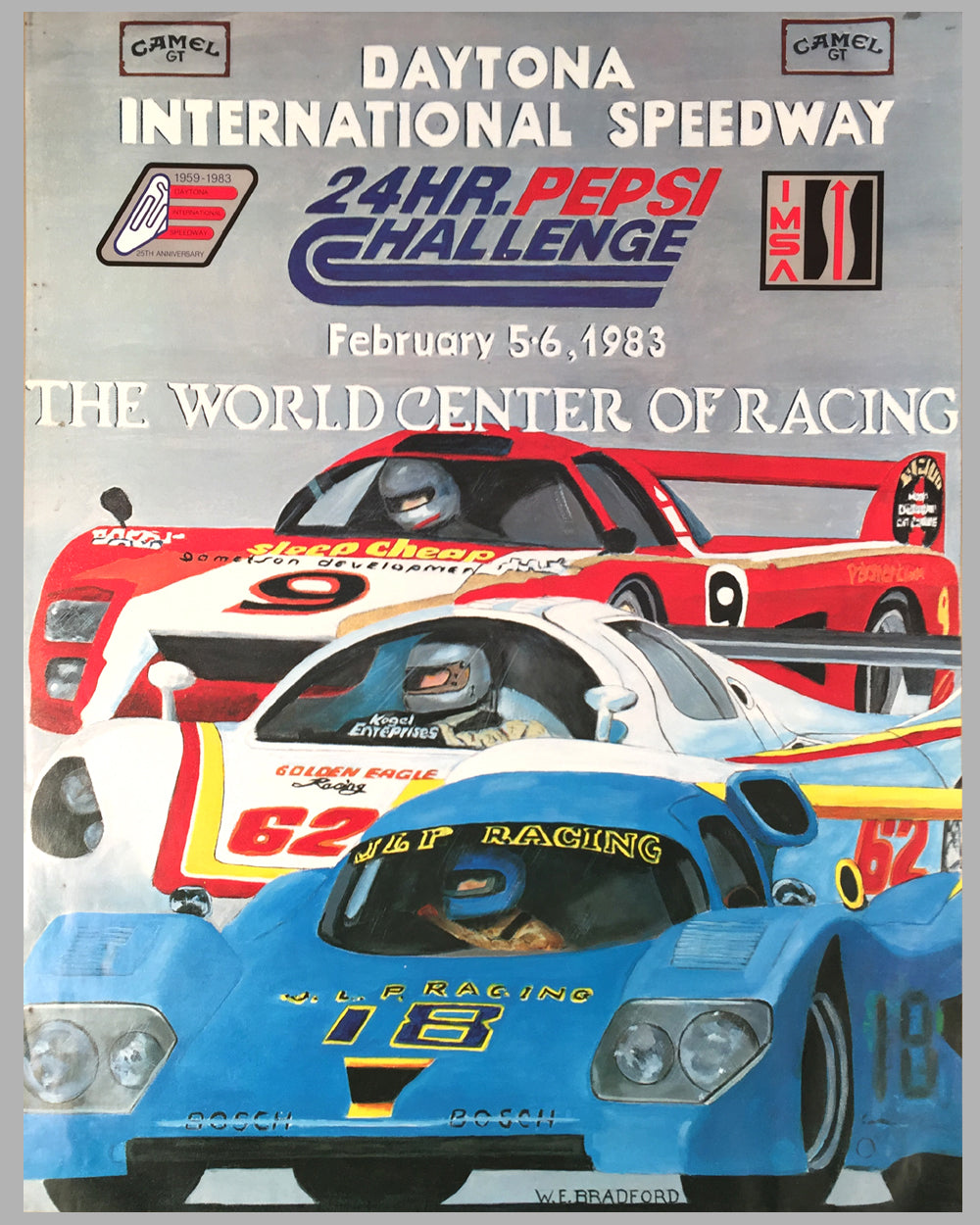 1983 - 24 Hours of Daytona original poster