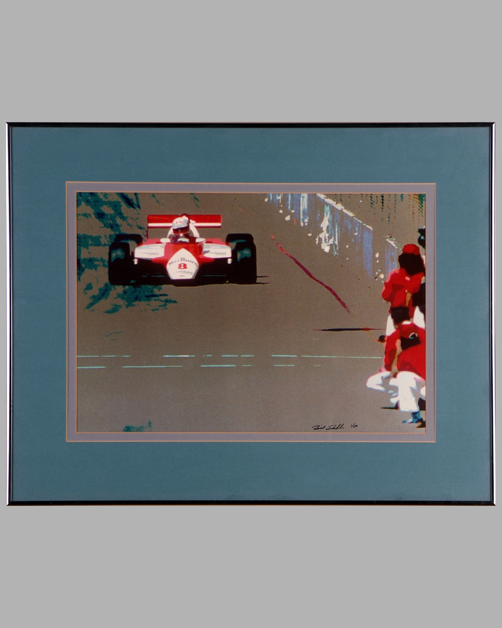 1983 Long Beach Grand Prix print of Niki Lauda's McLaren-Ford by Bill Stahl