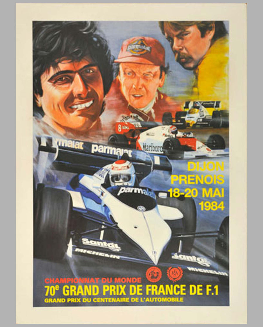 GP of France Dijon-Prenois 1984 original event poster