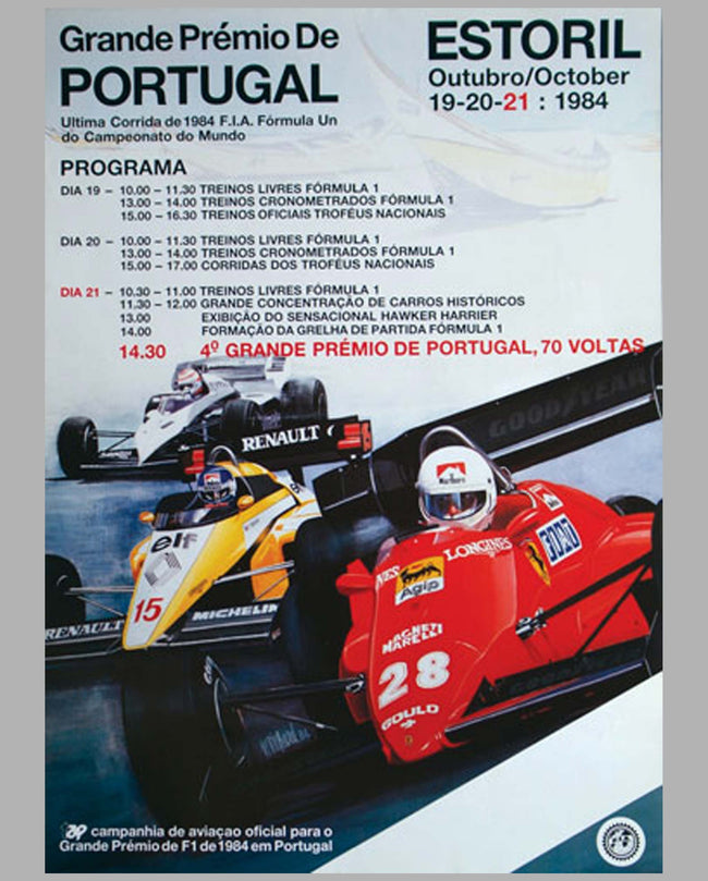G.P. of Portugal - Estoril poster, 1984