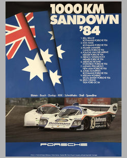 Porsche Factory Poster 1000 Km of Sandown 1984