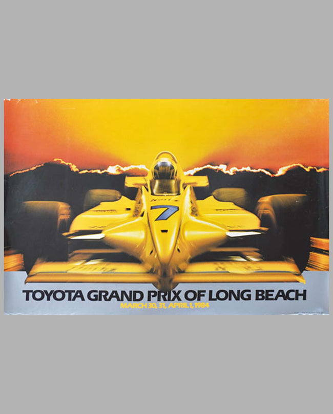 Toyota Grand Prix of Long Beach 1984 event poster