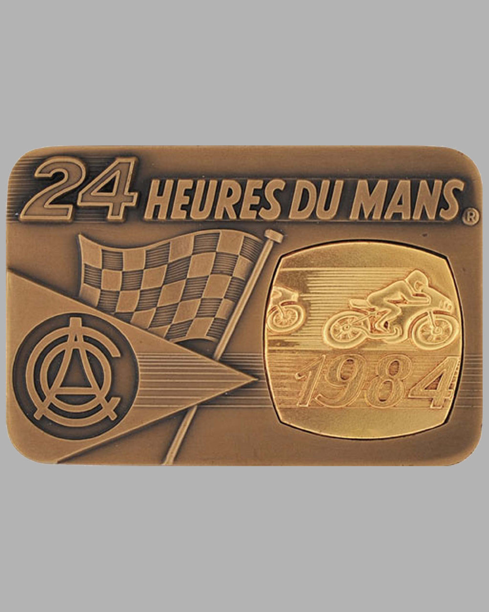 1984 - 24 Heures du Mans for motorcycle participant's medallion, France