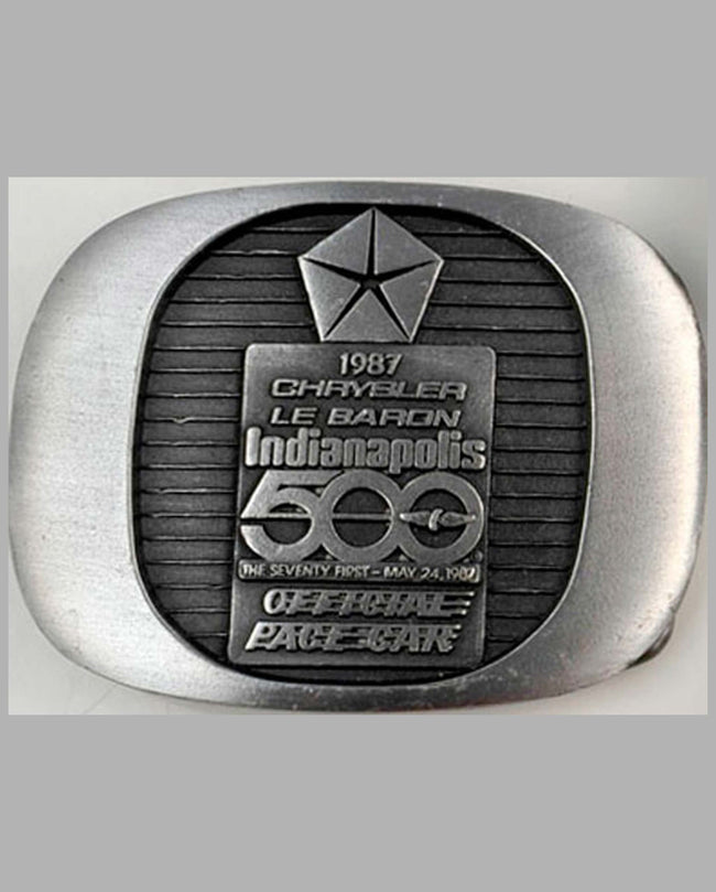 1987 Indianapolis 500-Chrysler commemorative belt buckle