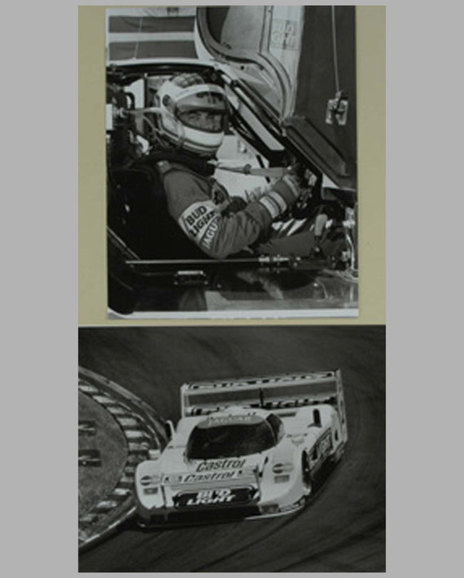 Two 1991 Jaguar XJR/Davy Jones b&w photographs by Tim Stahl