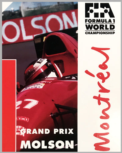 1992 Grand Prix of Canada Montreal official event poster 2