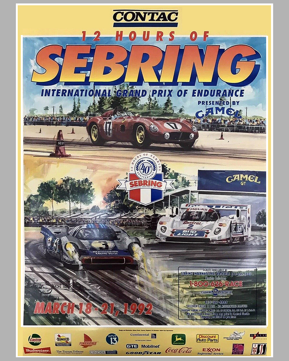 1992 - 12 Hours of Sebring official event poster