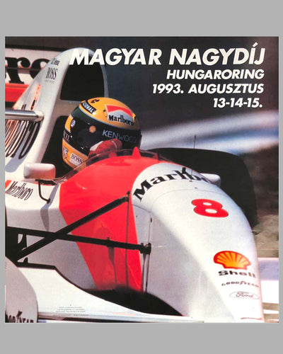Grand Prix of Hungary 1993 original poster