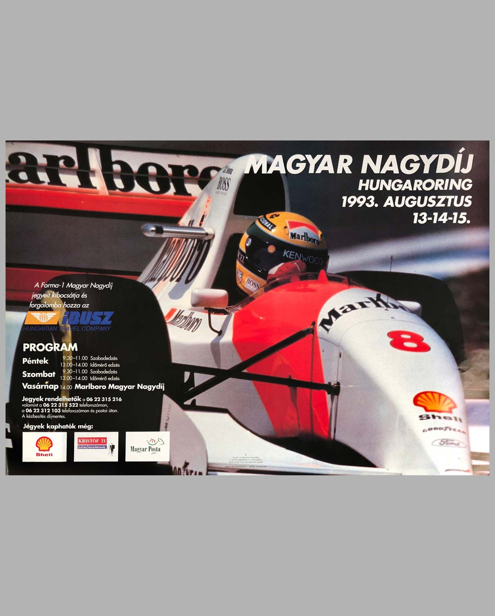 1993 Grand Prix of Hungary original poster
