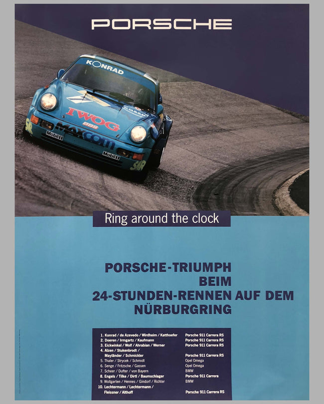Porsche Factory Poster 24 Hours of Nurburgring 1993