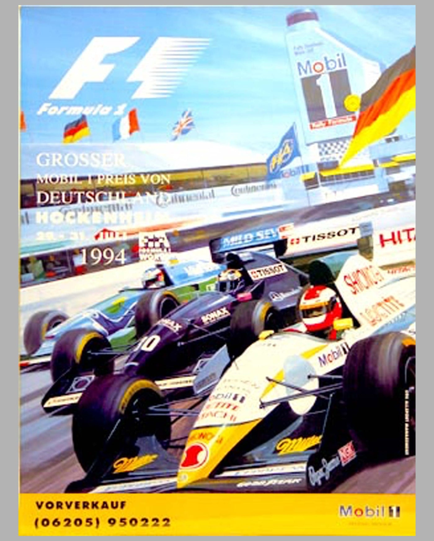 GP of Germany Hockenheim 1994 official event poster