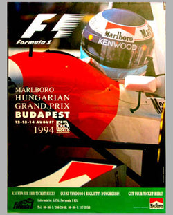 GP of Hungary - Budapest-1994 larger official event poster
