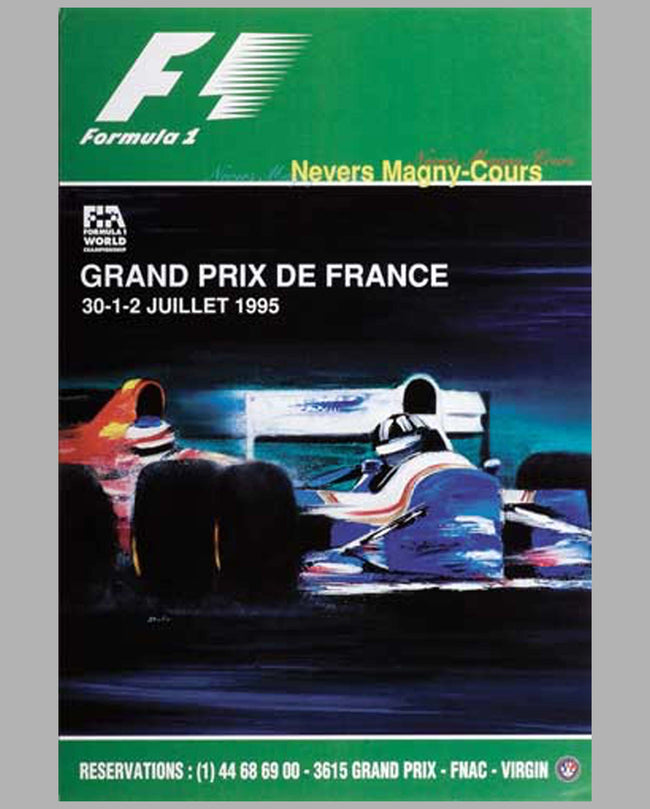 Grand Prix de France-1995 original event poster by Spabo