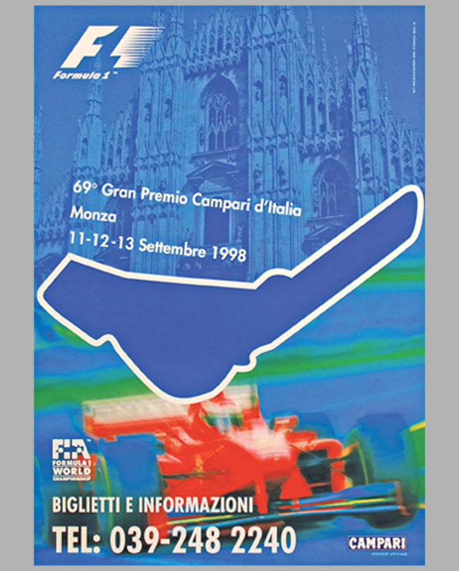 Grand Prix of Italy - Monza original event poster (1998)