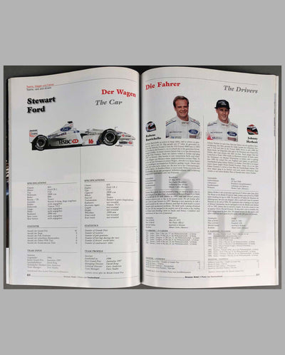 Grand Prix of Germany 1999 official program, autographed, inside