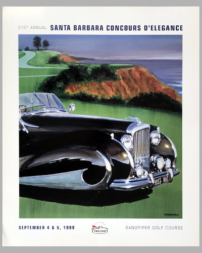 21st Santa Barbara Concours d' Elegance poster by Torson