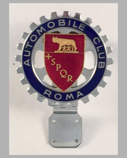Automobile Club Roma (Italy) car bumper badge