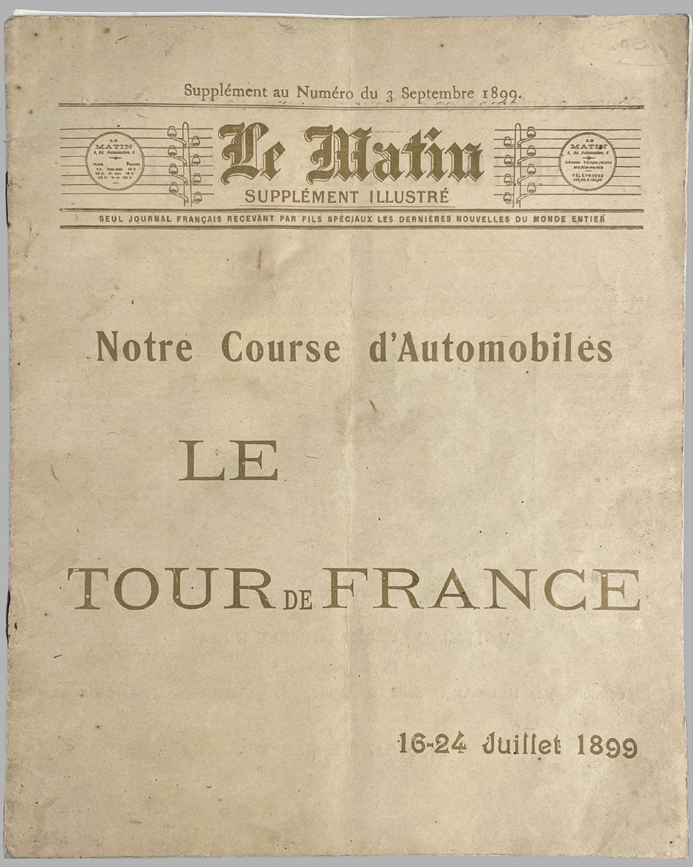 1st Tour de France automobile 1899 supplement (September 1899) 3