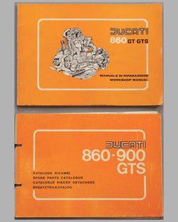 Two Ducati 860-900 GT-GTS original factory service manuals